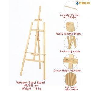 Wooden easel stand 5 ft