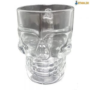 skull beer glass with handle